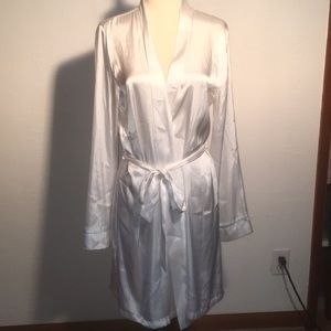 Beautiful silky Brides robe